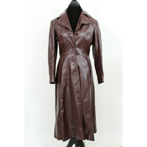 Vintage Wilson's Leather Trench Coat Ox Blood Red